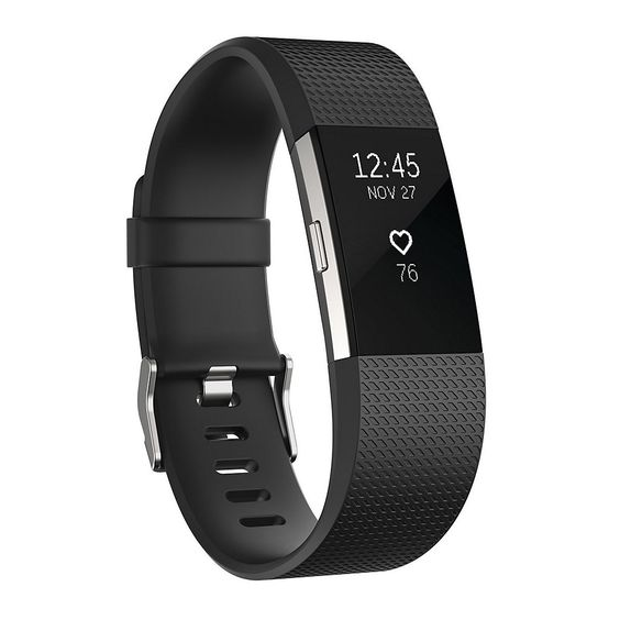 Press & Hold the side button of the FitBit Charge 2