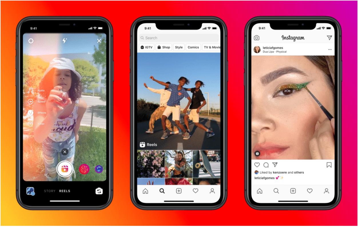 Instagram TikTok video and audio clip feature