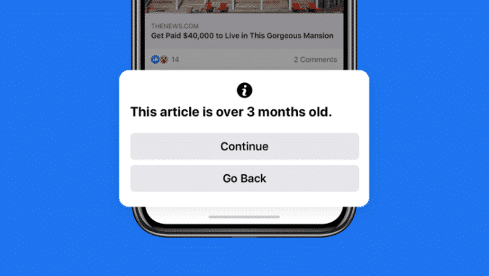 Facebook updates three month old article warning