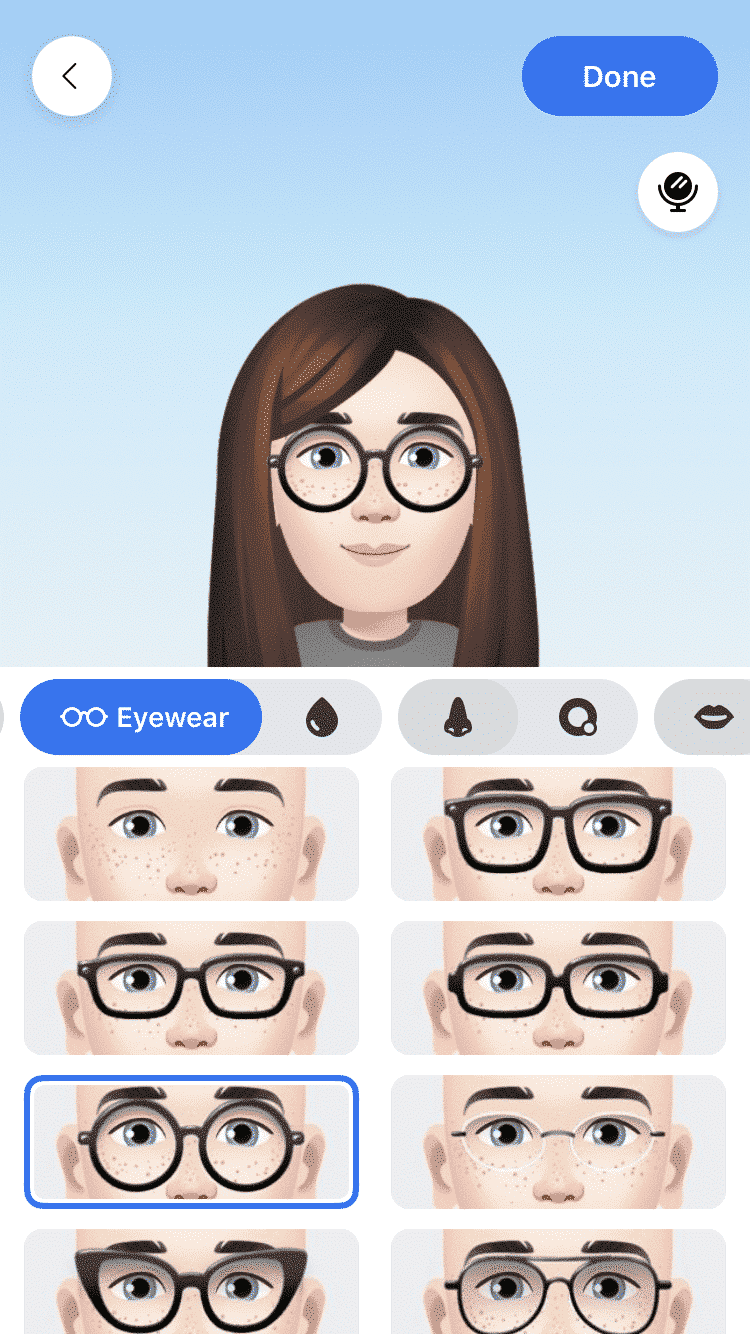 Facebook customized avatar stickers