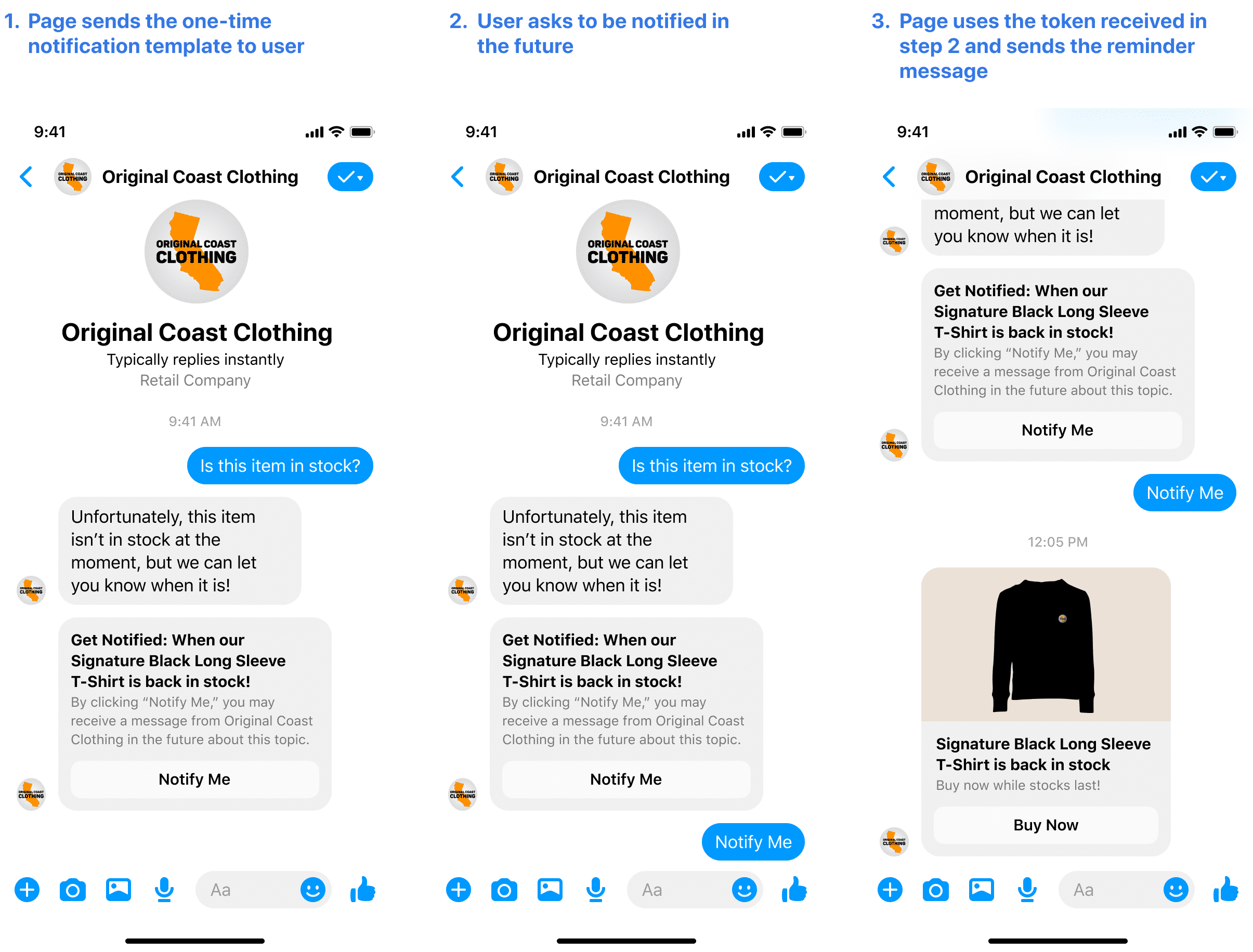 Facebook Messenger One Time Notification API update