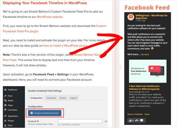 social media widget wordpress feed