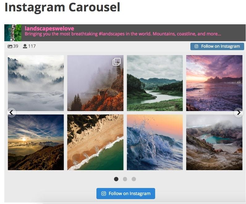 social media widget wordpress instagram feed