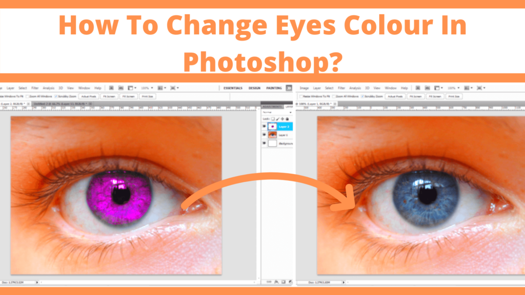 How To Change Eyes Colour In Photoshop