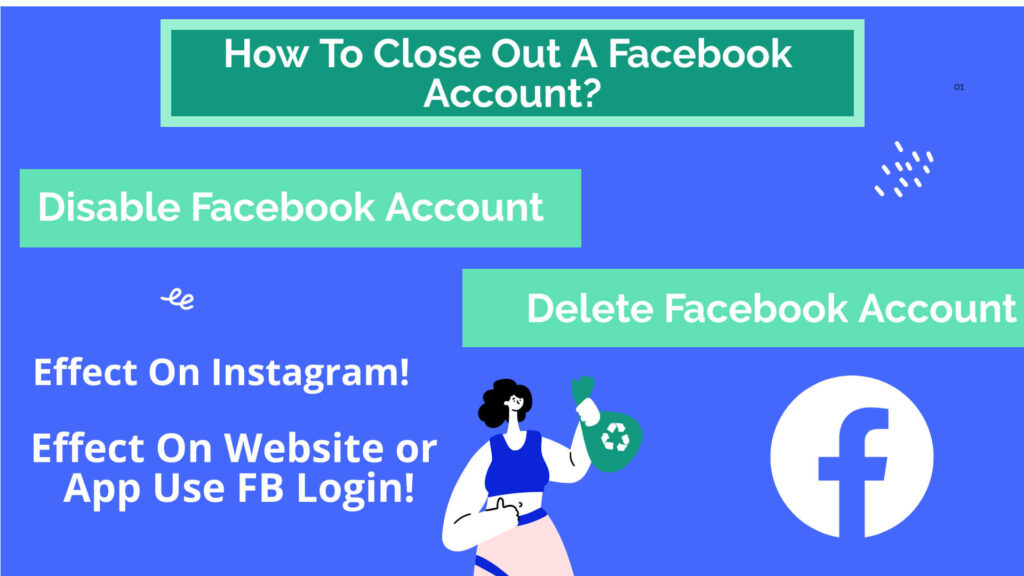 How To Close Out A Facebook Account,Disable Facebook Account, Delete Your Facebook Account, What is the difference between deactivate and delete facebook account?, How do I turn off Facebook deletion?, Can you still use Facebook after deactivating?, What happens if Facebook deletes your account?, Effect of deleting a Facebook account on the method of logging in to connected websites and apps?, Process when you wish to revoke the deletion, Things To Keep In Mind While Taking Decision, Will deleting my Facebook account affect my Instagram?,