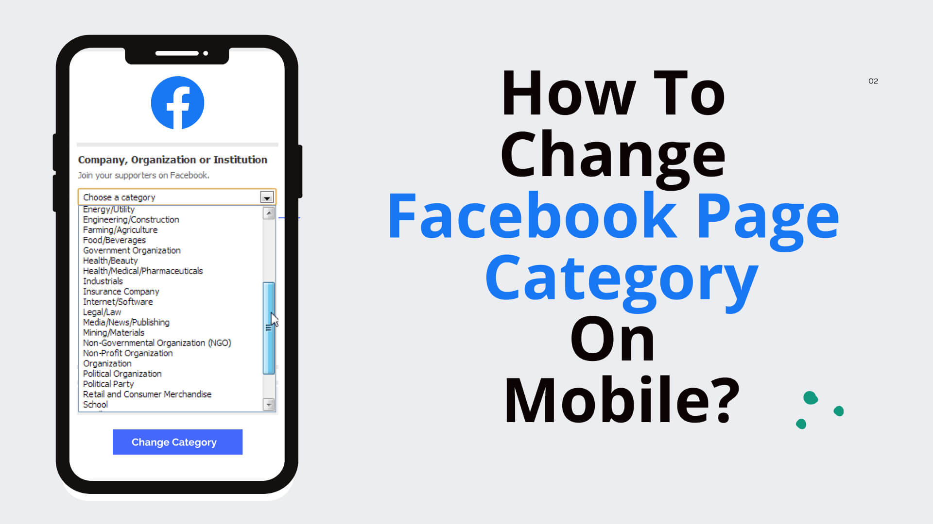 How To Change Facebook Page Category On Mobile