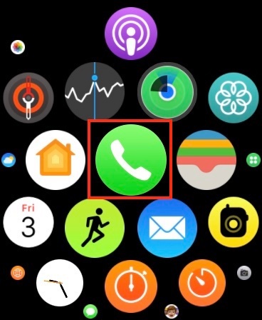 launch the Phone app on your Apple Watch
