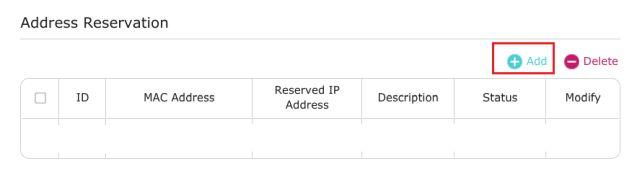 address reservation