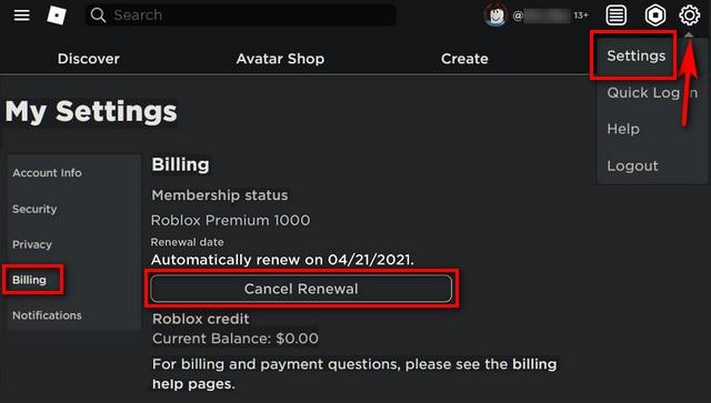 How to Delete Roblox Account or Cancel Premium Membership