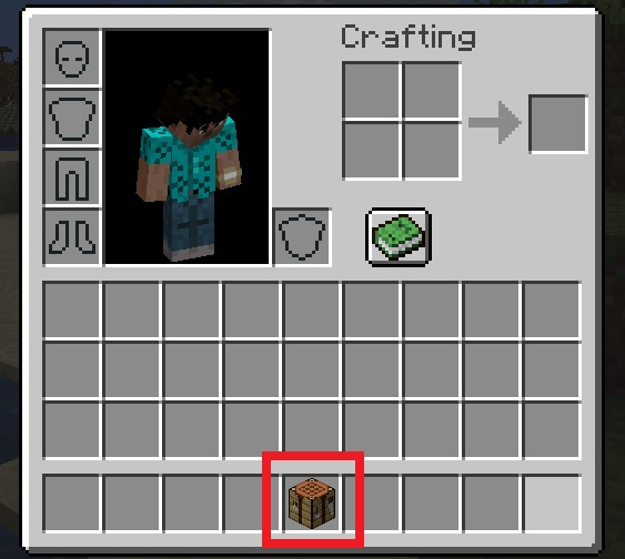 Crafting Table in Inventory
