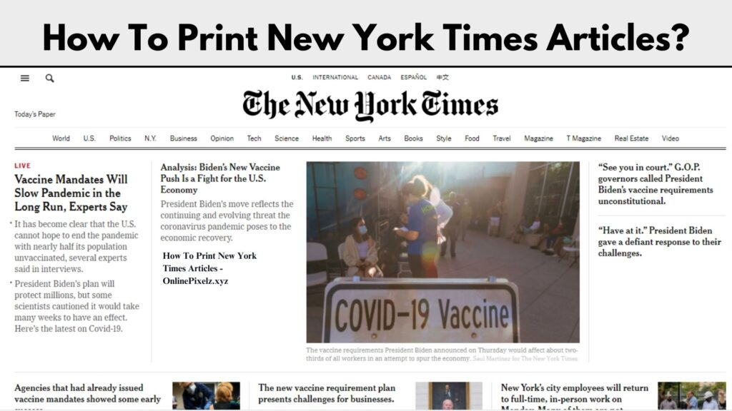 How To Print New York Times Articles